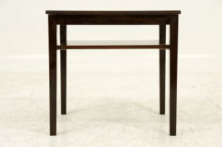 Danish Modern Small Rosewood Side Table photo