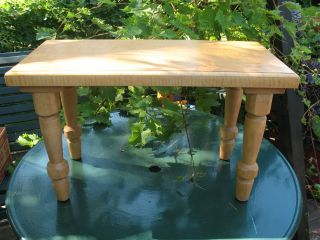 Maple Slab Bench Turned Legs Solid And Heavy photo