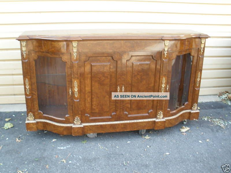 45863 Large Buffet Sideboard Server Curio Cabinet Post-1950 photo