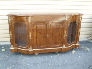 45863 Large Buffet Sideboard Server Curio Cabinet photo