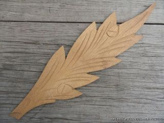 Old Solid Oak Leaf Leftt Furniture Mount Cartouche photo