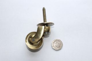 Brass Castors Screw Plate Fitting 32 Mm Now Cheaper photo
