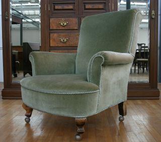 Antique Victorian Armchair Gentlemans Club House Parlour Arm Easy Chair No.  1 photo