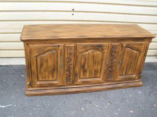 46772 Quality Oak Buffet Server Sideboard Cabinet photo