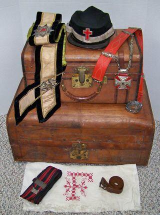 1862 - 80 Id ' D Civil War Trunk & Masonic Accouterments - Dan Fargo 2nd Mich.  Cav. photo