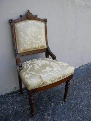 Victorian Eastlake Walnut Side Chair 1046 photo