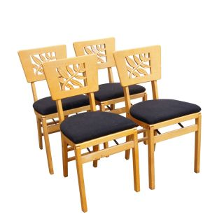 (4) 1940s Vintage Stakmore Folding Chairs photo