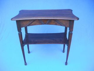 19 Th.  Century Oak French Country Console Table Desk photo