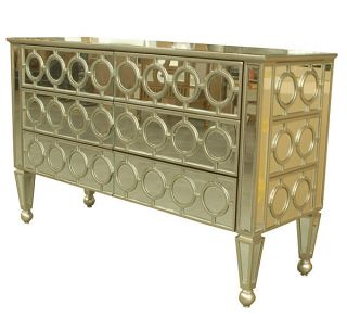 Elegant Antique Style Mirrored Chest/dresser,  52.  5  Wide. photo