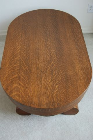 Antique Furniture American Victorian Tiger Quatersawn Oak Coffee Table Old photo