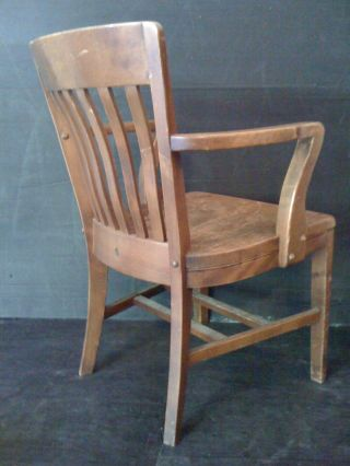 Antique Mission - Style Hard Rock Maple Armchair By The Sikes Company,  Inc. photo