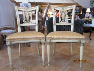 French Style Side Chairs,  Wood,  Matching Pair,  Store Closing photo