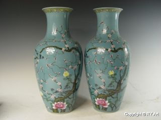 Pair Chinese Famille Rose Porcelain Vase 18