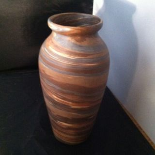 Tall Niloak Pottery Mission Swirl Vase photo