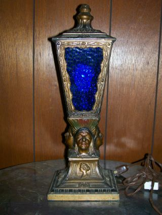 Antique Art Deco Electric Table Lamp