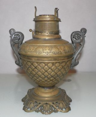 Antique Oil Lamp The Rochester Circa 1892 Antique Victorian Oil Lamp photo