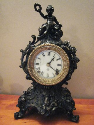 Antique Art Nouveau Mantle/shelf Clock,  Ansonia (brooklyn,  Ny) photo