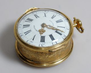 Important Antique Timepiece Swedish Ormolu Bronze Desktop Clock C.  1760 Nils Berg photo