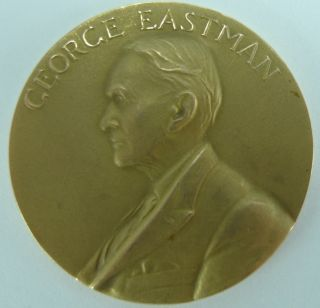 Rare George Eastman 50 Year Loyal Service Medal Solid 10k Gold. photo