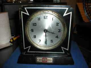 Vintage Gilbert Desk Clock 1809 - 1934 North British And Mercantile Insurance Co photo