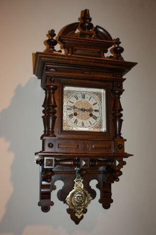 Spectacular Antique German Swinger Wall Clock (junghans) photo