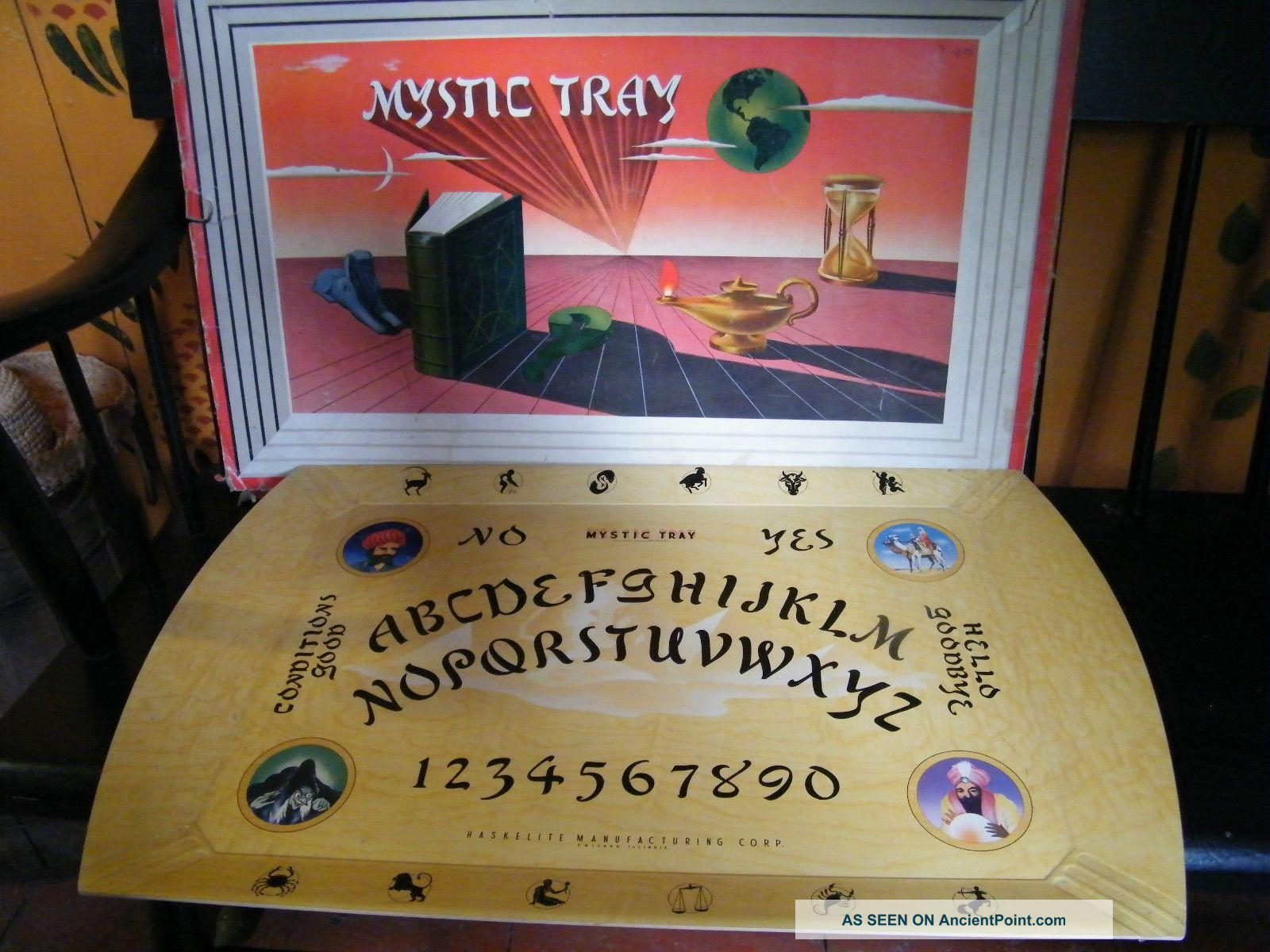 Vintage 1940 ' S Hasko/haskelite Mystic Tray Ouija Board Trays photo