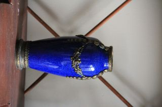 Cobalt Blue Sevres Vase With Bronze photo