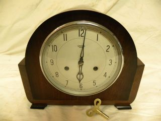 Antique English Smiths Enfield Fine Parlor Clock Clean And Running Fine photo