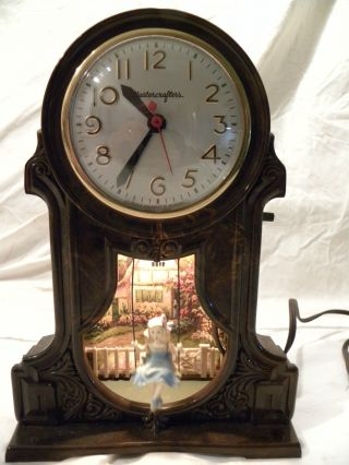 Antique American Mastercrafters Swinging Girl Clock Circa 1955 Near Perfect Runs photo