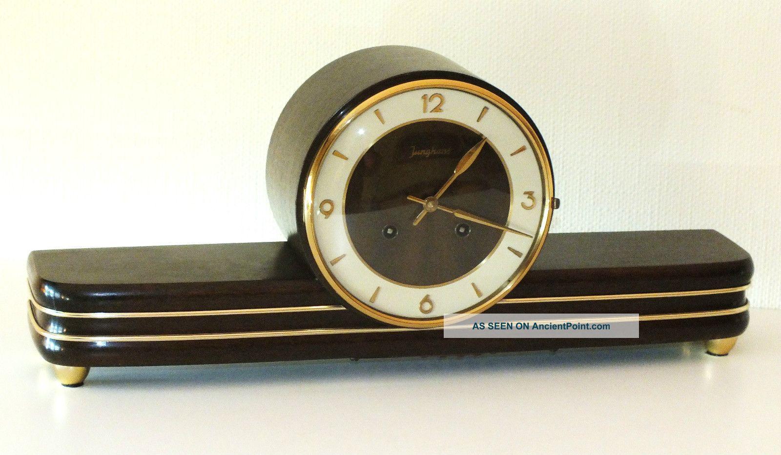 Junghans Chiming Mantel Clock Art Deco Bauhaus Design
