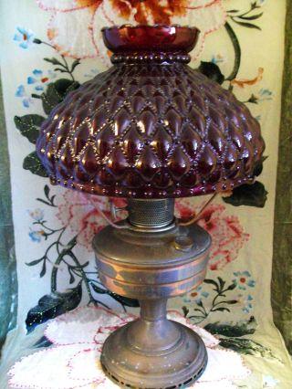 Antique Aladdin Company Chicago Oil Base Lamp photo