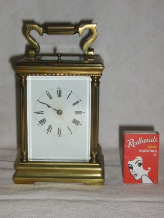 Vintage Old French Carriage Clock C 1900 / Travelling Clock photo
