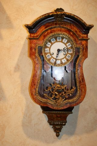 Stunning - Antique Italian Boulle Clock (a Must See) photo