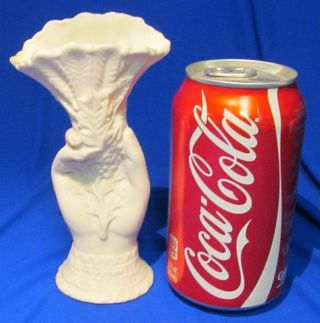 Antique Parian Ware Parianware Porcelain Hand Vase photo