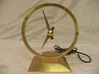 Vintage Jefferson Golden Hour Mystery Parlor Clock 3ms photo