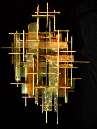 Rare And Museal Sconce Poliarte Murano Design Mario Bellini Italian Style photo