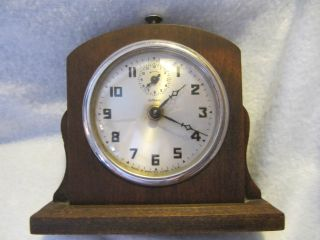 Gilbert Wood Wind Up Alarm Clock photo
