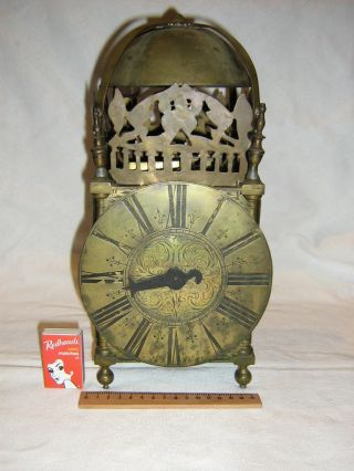 Antique Old Fully Brass Lantern Clock photo