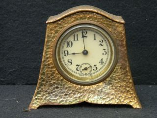 Antique Gilt - Brass American - Made Desk Set Clock photo