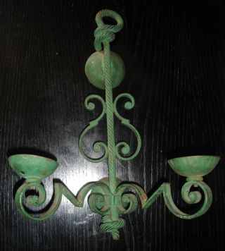 A Wrought Iron Wall Sconce Gilbert Poillerat photo