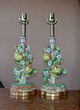 Capodimonte Style Lamps photo