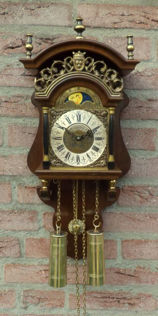 Old Beautifull Dutch Sallander Moondial Clock photo