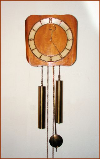 1950 ' S Warmink Wuba Rosewood Wall Clock Weight Driven photo