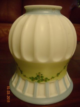 Antique Embossed Glass Lamp Shade photo