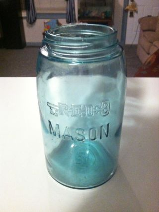Extremly Rare Redkey Mason Jar No.  12 photo