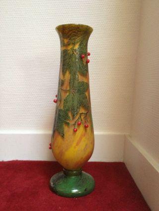 Rare Vase Daum Nancy photo