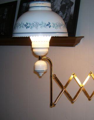 Look Vintage Toleware ? Scissors Wall Lamp,  Tin Enamel & Globe. . .  Look Works photo