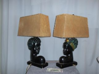 Barsony Chalk Lamps Two One Male.  One Female