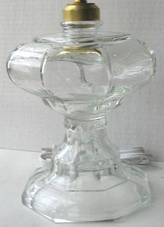 Glass Kerosene/oil Lamp Octagonal Font 2 Adapter.  Can Electrify photo