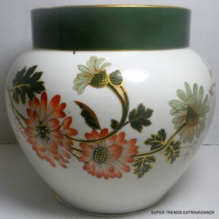 Antique Temple Ridgeways English Pottery Floral Jardiniere 7 1/2